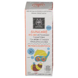 Apivita Sun Cream Bio-Eco Babies & Kids SPF30 100 ml bottle