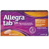 Allegra tab 120mg - Rhinite Allergique Saisonnière 20  comprimés