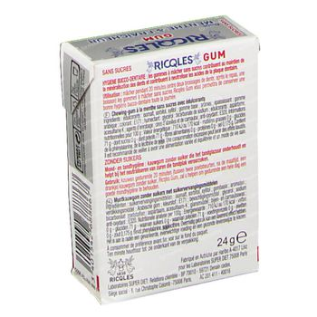 Ricqles Chewing Gum Blancheur 24 g