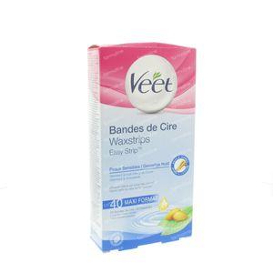 Veet Bandes De Cire Froides Peau Sensible 40 pièces