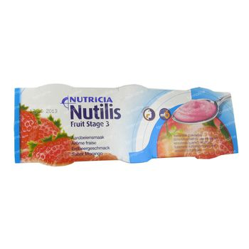 Nutilis Fruit stage 3 Fraise 3x150 g