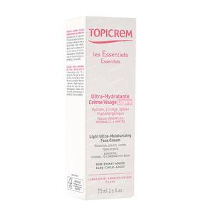 Topicrem Ultra Moisturizing Face Cream Light 75 ml