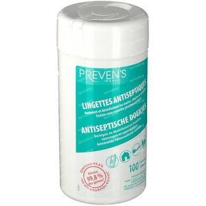 Prevens Antiseptic Wipes Mint Box 100 St
