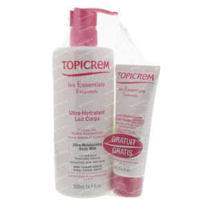 Topicrem Ultra Hydra Body + Gelaat 75 ml Gratis 575 ml