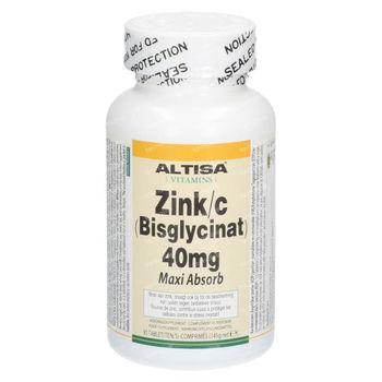 Altisa Zinc Bisglycinat 40Mg 90 comprimés