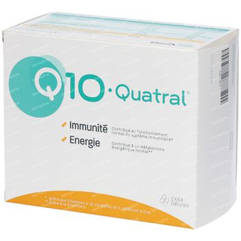 Q10-Quatral Immunité & Énergie - 3 Mois 2x84 capsules