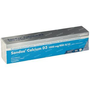 Sandoz Calcium D3 1000mg/880ie 30 kauwtabletten