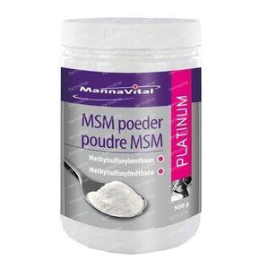 M.S.M. Mannavital Platinum 500 g Poudre