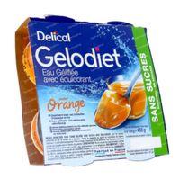 Delical Gelodiet Gelwater Gesuikerd Sinaasappel 480 g