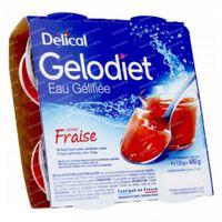 Delical Gelodiet Gelwater Gesuikerd Aardbei 480 g