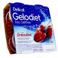 Delical Gelodiet Gelwater Gesuikerd Grenadine 480 g