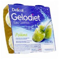 Delical Gelodiet Eau Gélifiée Sucrée Pomme Verte 480 g