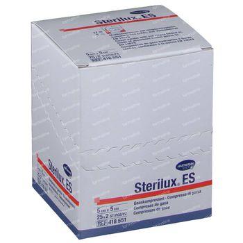 Hartmann Sterilux ES Steriel Kompres 8 Lagen 5 x 5cm 418551 25x2 stuks