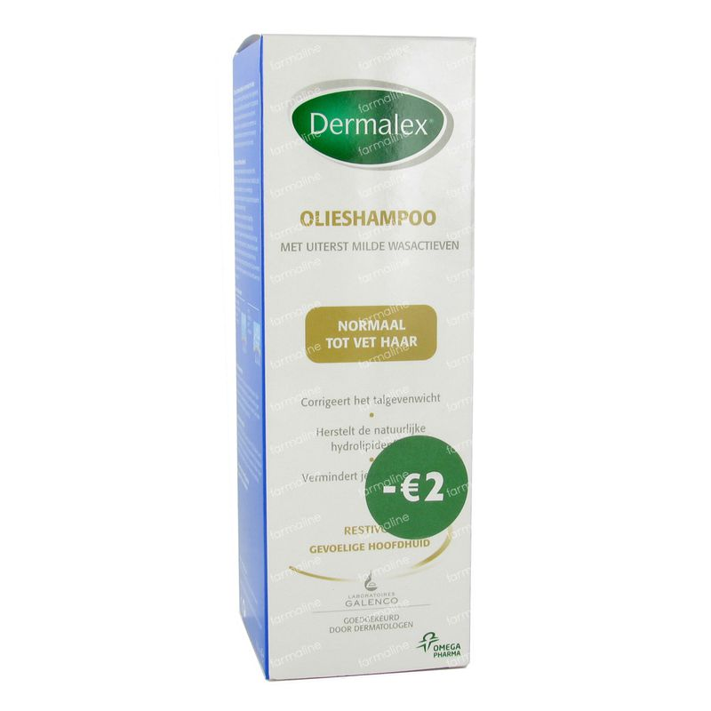 dermalex l shampoo normal fettiges haar 2 promo 250 ml online bestellen. Black Bedroom Furniture Sets. Home Design Ideas