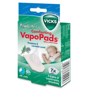Vicks VBR7E Vapopads Paediatric Rosemary/Lavender +3 Months/+4,5 kg 7 pieces