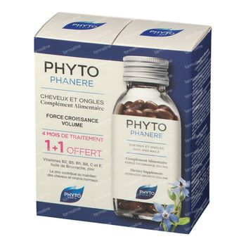 Phyto Phytophanère Anti-Haaruitval & Broze Nagels DUO 2x120 capsules