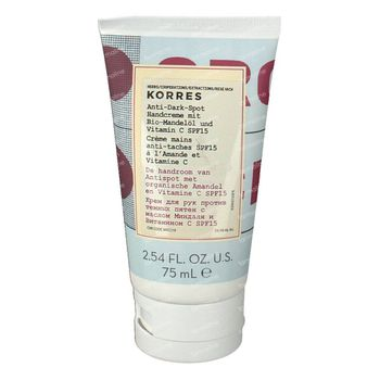 Korres Huile d'Amande - Vitamine C  Crème Mains SPF15 75 ml