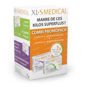 XLS Medical Startpack Capteur De Graisses + Bloqueur de Glucides 2x60 comprimés