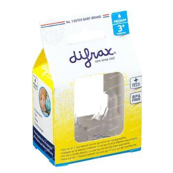 Difrax Zuigspeen Natural Medium  2 stuks