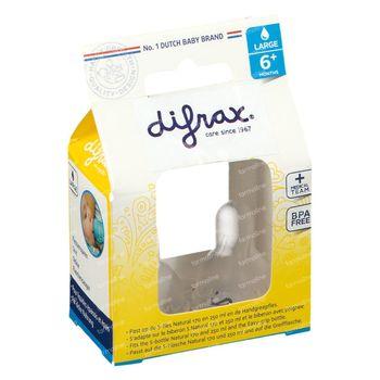 Difrax Zuigspeen Natural Large  2 st