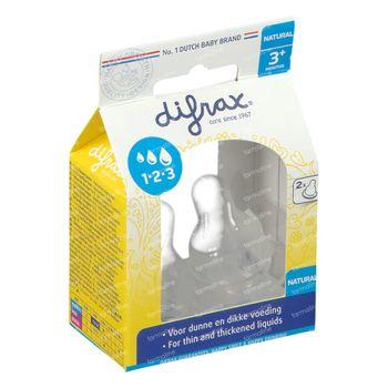 Difrax Zuigspeen Natural 1-2-3 2 st