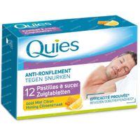 Quies Anti-Ronflement Miel-Citron 12 st