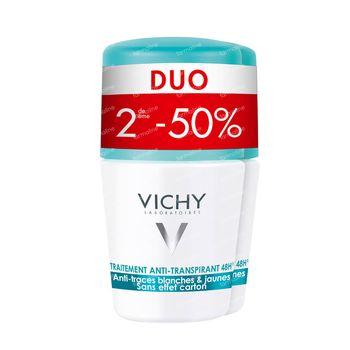 Vichy Deodorant Anti-Transpiratie Anti-Witte en Gele Vlekken 48h Duo 2x50 ml roller