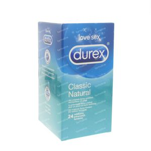 Durex Condoms Classic Natural 24 pieces