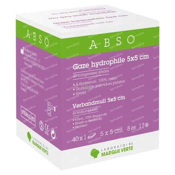 Laboratoire Marque Verte Abso Gaze Hydrophile Stérile 5x5cm 40 pièces