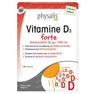 Physalis Vitamine D3 Forte 100 capsules