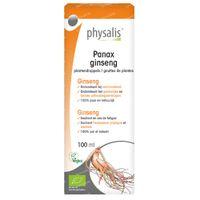 Physalis Panax Ginseng Gouttes de Plantes Bio 100 ml