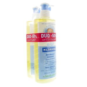 Klorane Baby Gentle Foaming Gel Duopack 1000 ml