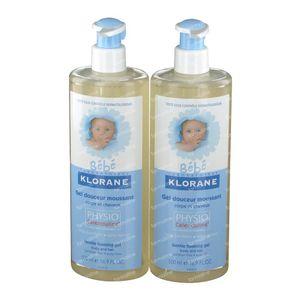 Klorane Bébé Nutrition Gel Moussant Surgras Duopack 2x500 ml
