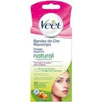 Veet Cold Face Wax Strips voor Gevoelige Huid Natuurlijke Inspiratie 20 stuks