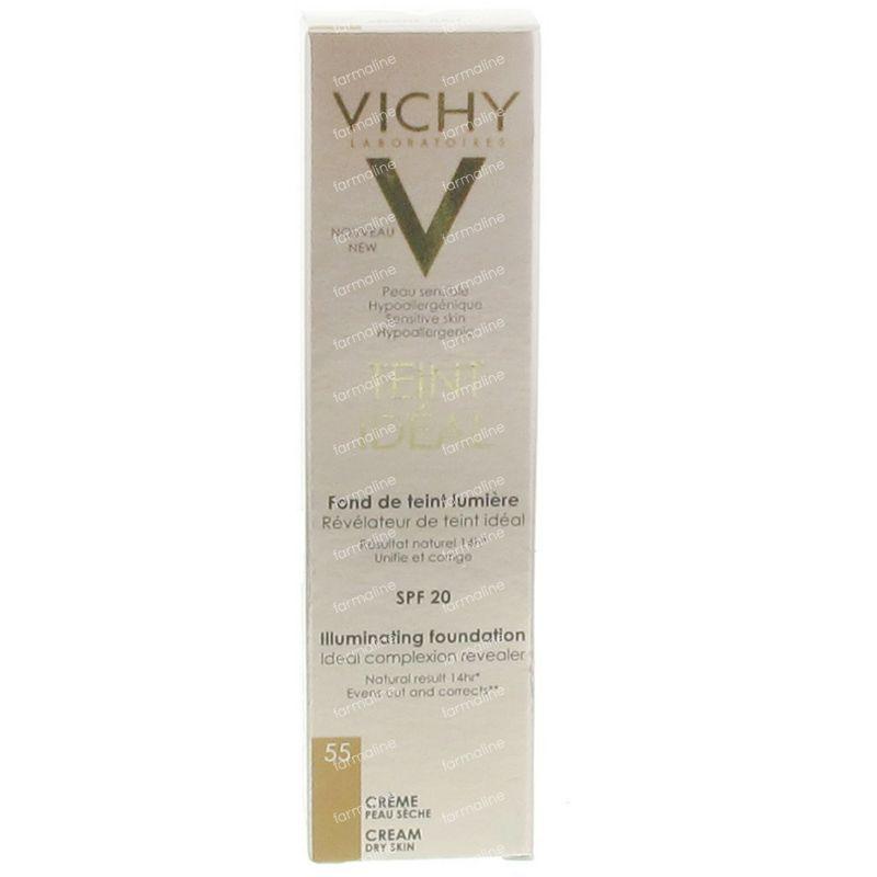 Vichy teint id al fond de teint lumiere 55 bronze 30 ml - Fond de teint hypoallergenique ...