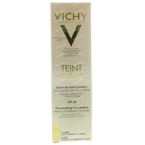 Vichy Teint Idéal Fond De Teint Lumiere Fluide 15 Clair 30 ml