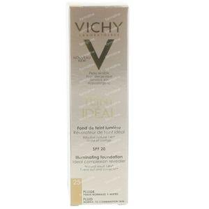 Vichy Teint Idéal Fond De Teint Lumiere Fluide 25 Moyen 30 ml