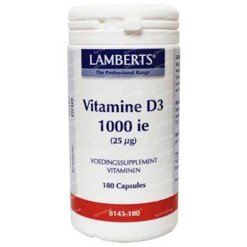 Vitamine D Lamberts 1000IU 25mcg 180 tabletten