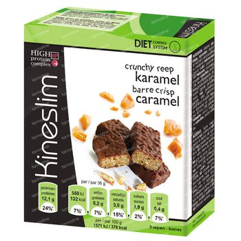 Kineslim Crunchy Barre Caramel 3 st