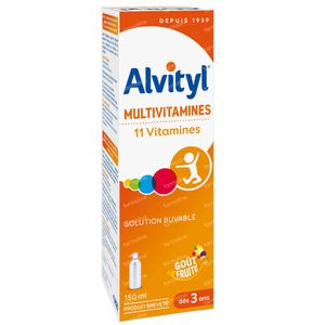 Alvityl Multivitamines 150 ml siroop
