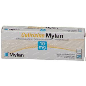 Cetirizine Mylan 10mg 20 tabletten