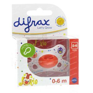 Difrax Sucette Combi Jokie 0-6 M 1 pièce