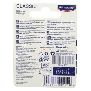 Hansaplast Med Hechtpleister Classic 2.5cm x 5m 1 stuk