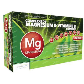 Magnésium & Vitamine B Complex 60 capsules
