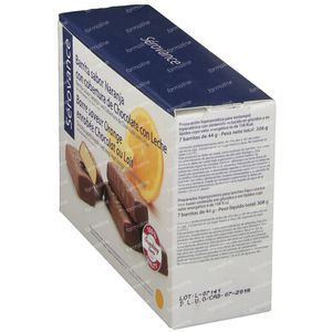Serovance Granola Bar Orange - Milk Chocolate 7 pieces