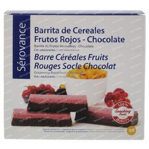 Serovance Granola Bar Red Fruit - Chocolate 7 pieces