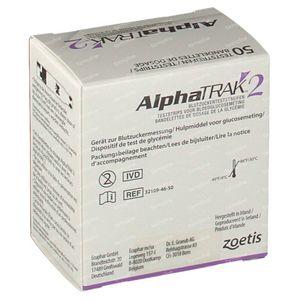 Alphatrak Mesurer Glycémie Test-Strip 50 pièces