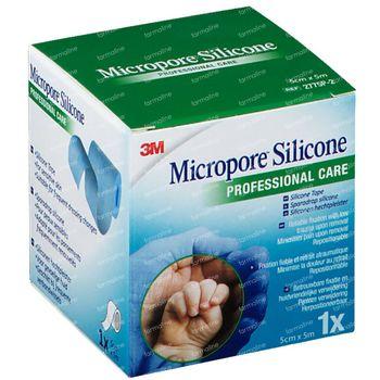 3M Micropore Silicone Sparadrap Chirurgical 5cmx5m 1 emplâtre