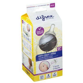 Difrax Biberon S Natural Wide 200 ml