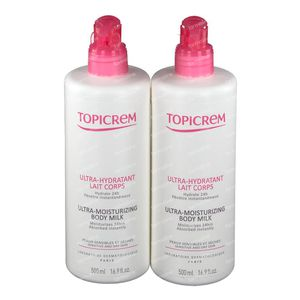 Topicrem Ultra-Hydratant Lait Corps Duo 2x500 ml